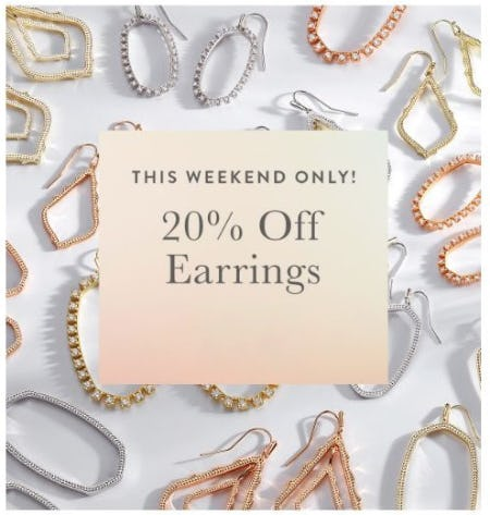 20% Of Earrings from Kendra Scott