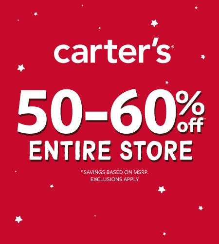 Beat The Rush! 50-60% Off Entire Store from Carter's Oshkosh