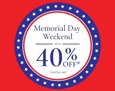 Memorial Day Weekend: Up to 40% Off from Ted Baker London