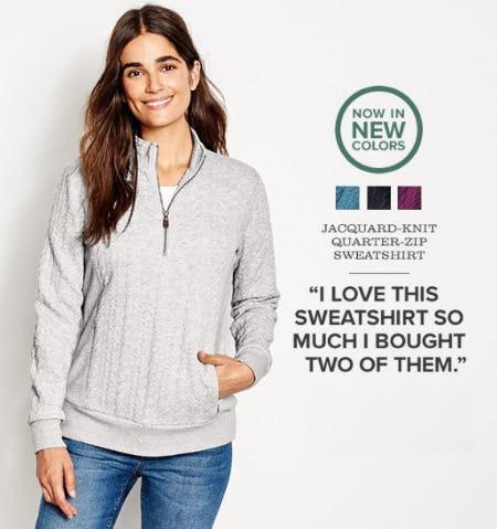 Our New Jacquard-Knit Quarter-Zip Sweatshirt