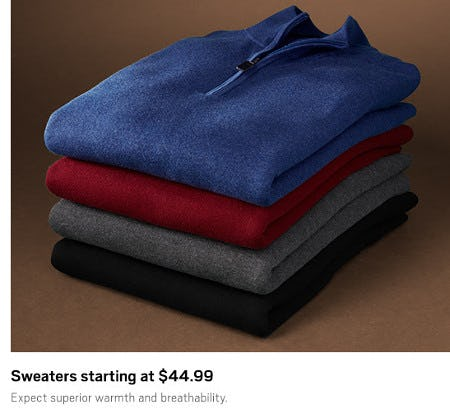 Sweaters Starting at $44.99