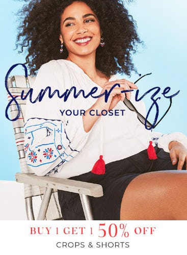 Buy 1, Get 1 50% Off Crops & Shorts from Lane Bryant