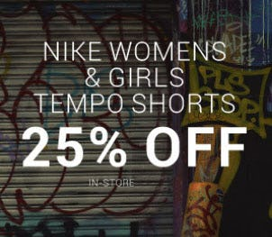 25% Off Nike Womens & Girls Temp Shorts from Hibbett Sports