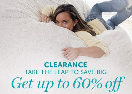 Get Up to 60% Off Clearance from Lovesac