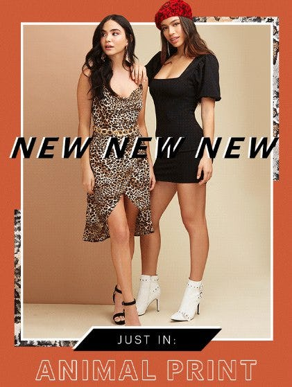 Just In: Animal Print from Charlotte Russe