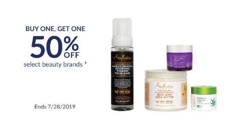 BOGO 50% Off Select Beauty Brands
