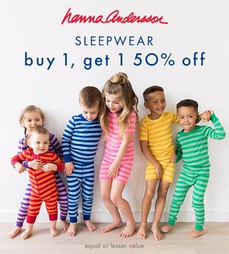 All Kids PJ's: Buy 1, Get 1 50% off