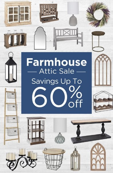 Farmhouse Attic Sale up to 60% Off
