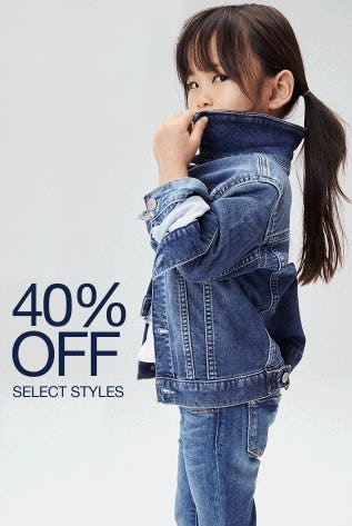 40% Off Select Styles from Gap