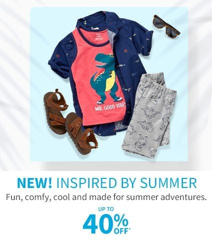 Up to 40% Off Summer Styles from Carter's Oshkosh