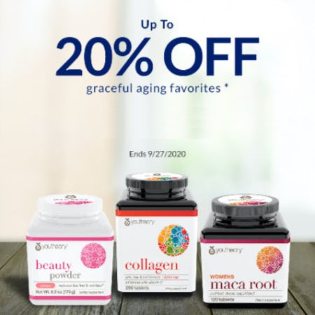 Up to 20% Off Graceful Aging Favorites from The Vitamin Shoppe