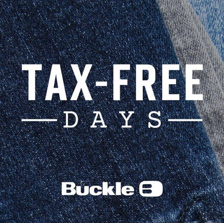 Iowa Tax-Free Days are August 6-7 from Buckle