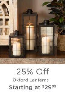 25% Off Oxford Lanterns