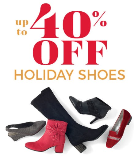Up to 40% Off on Holiday Shoes from Stein Mart