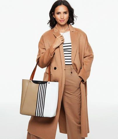 New Brown & White Stripes to Love from Henri Bendel
