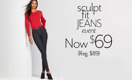 Sculpt Fit Jeans Now $69 from White House Black Market
