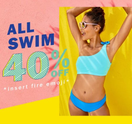 40% Off All Swim