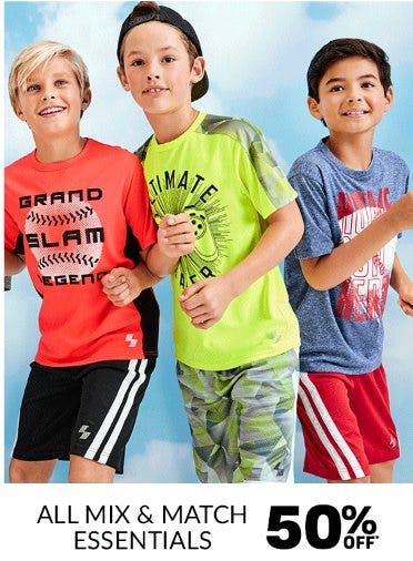 All Mix & Match Essentials 50% Off from The Children's Place Gymboree
