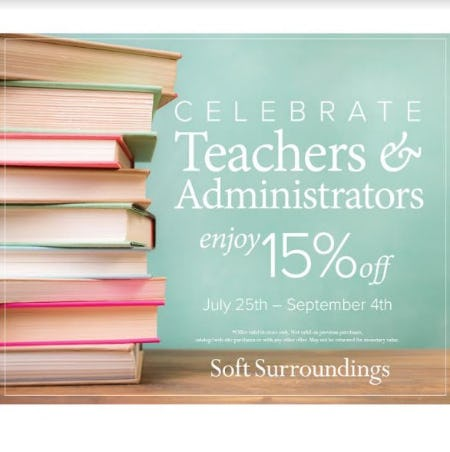 Soft Surroundings Celebrates Teachers and Administrators! from Soft Surroundings