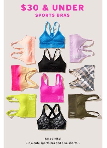 Sport Bras $30 and Under from Victoria's Secret