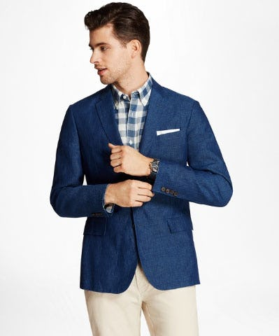 Two-Button Linen Sport Coat