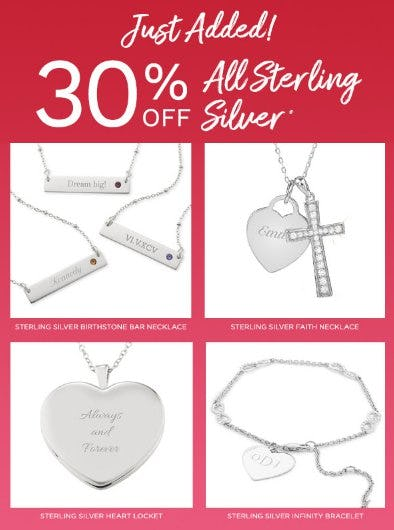 30% Off All Sterling Silver from Things Remembered