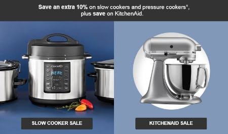 Extra 10% Slow Cookers & Pressure Cookers from Target