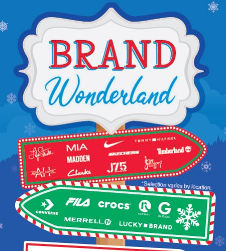 Brand Wonderland! from SHOE DEPT. ENCORE