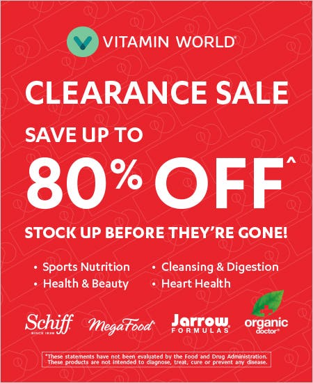Save Up To 80% off on Clearance