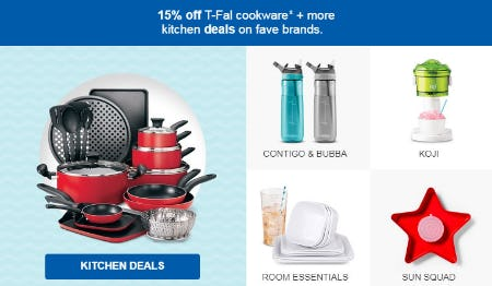 15% Off T-Fal Cookware from Target