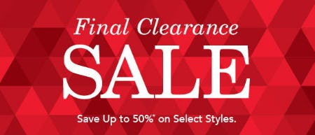 Up to 50% Off Final Clearance Sale