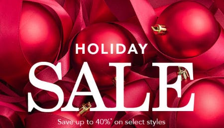 Up to 40% Off Holiday Sale