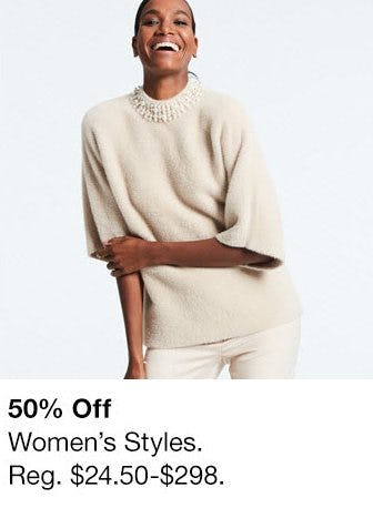 50% Off Women's Styles from Macy's Men's & Home & Childrens