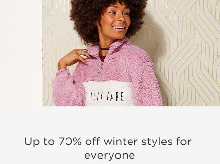 Up to 70% Off Winter Styles from Sears