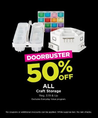 50 Off All Craft Storage At Michaels Brass Mill Center