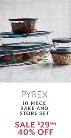 40% Off Pyrex from Sur La Table