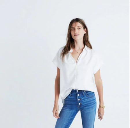 Central Shirt In Pure White from Madewell