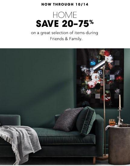 Save 20-75% Home