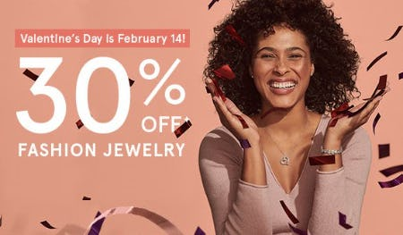 30% Off Fashion Jewelry