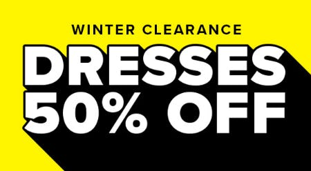 Winter Clearance: 50% Off Dresses from Rainbow