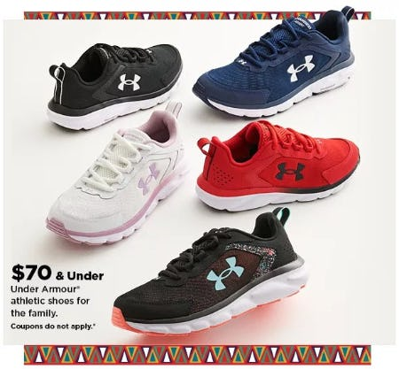 $70 & Under Under Armour Athletic Shoes