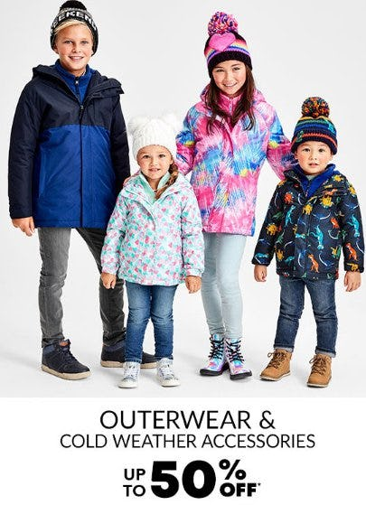 Outerwear & Cold Weather Accessories up to 50% Off from The Children's Place
