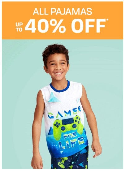 Up to 40% Off All Pajamas from The Children's Place