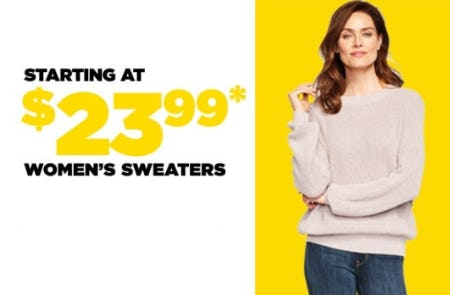 Starting at $23.99 Women's Sweaters from Lord & Taylor