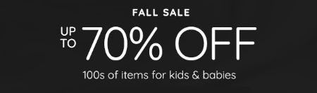 Fall Sale: Up to 70% Off from Pottery Barn Kids