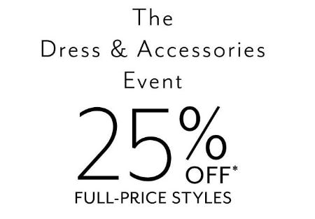 The Dress & Accessories Event from White House Black Market