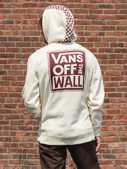 Vans Checkered Stripe Off White Hoodie from Zumiez