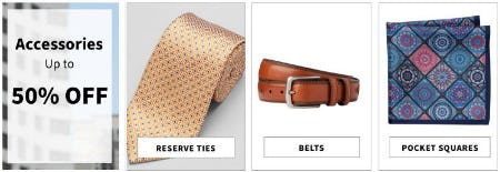 Accessories Up to 50% Off from Jos. A. Bank