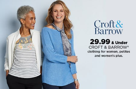 $29.99 & Under Croft & Barrow from Kohl's
