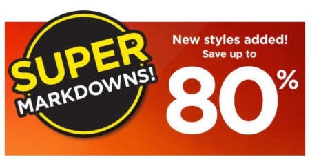 Up to 80% Off Clearance Super Markdowns from Kohl's
